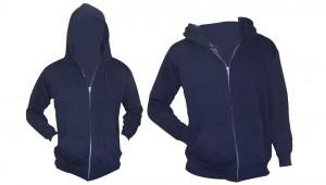 80/20 Cotton / Polyester 3-End Fleece Hooded Zip Front Sweatshirt