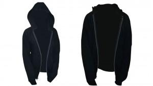 Thermal Lined 3-End Fleece Hooded Zip Front Sweatshirt